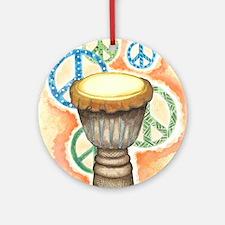 Peace Through Music Round Ornament
