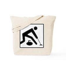 Curling Logo Tote Bag