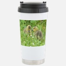 Goslings in clover Stainless Steel Travel Mug