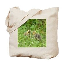 Goslings In Clover Tote Bag