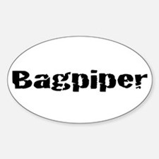 Bagpiper (Hardcore) Oval Decal