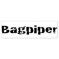 Bagpiper (Hardcore) Bumper Bumper Sticker