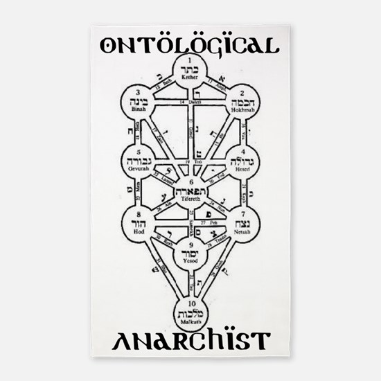 ontological anarchist tree of life 3'x5' Area Rug