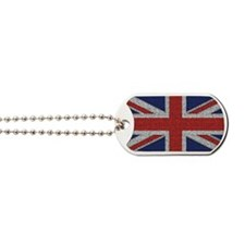 British Flag Tattered Dog Tags