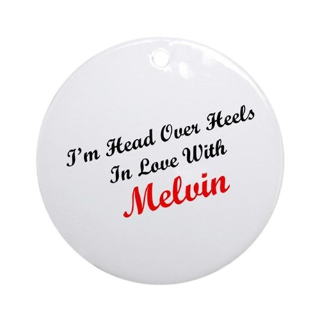 In Love with Melvin Ornament (Round)