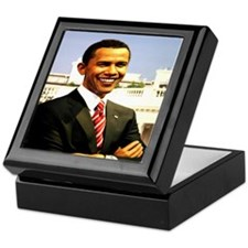 Brack Obama smart president USA Keepsake Box