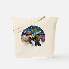 2-Xmas Magic - Newfoundland (THREE) Tote Bag