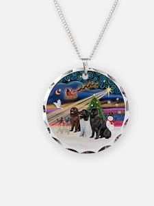 2-Xmas Magic - Newfoundland  Necklace