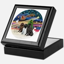 2-Xmas Magic - Newfoundland (THREE) Keepsake Box