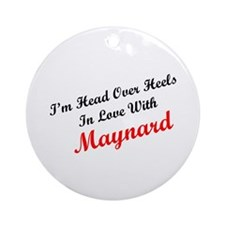 In Love with Maynard Ornament (Round)