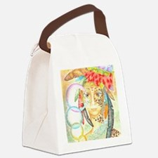 Jaguar Woman Canvas Lunch Bag