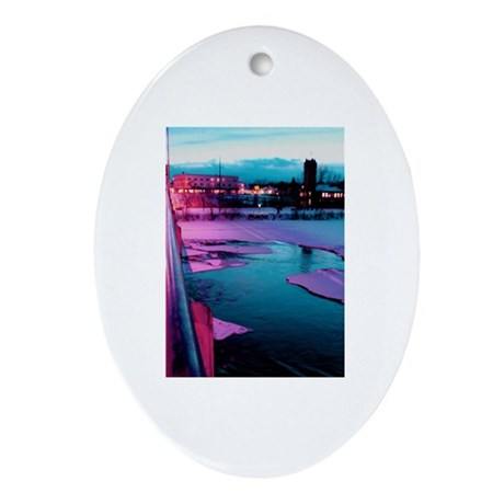 Clark Fork River Oval Ornament