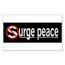 Surge Peace Rectangle Decal