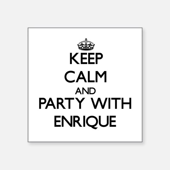 Keep Calm and Party with Enrique Sticker