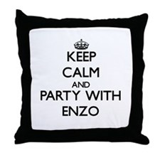 Keep Calm and Party with Enzo Throw Pillow
