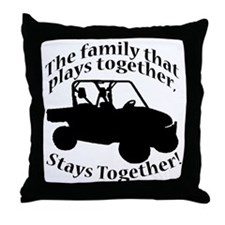Family Plays BLACK Throw Pillow