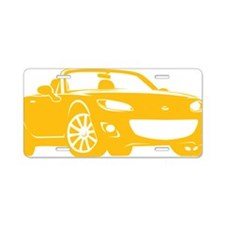 NC2 yellow Aluminum License Plate