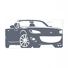 NC2 gray Aluminum License Plate