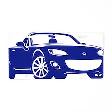 NC2 blue Aluminum License Plate