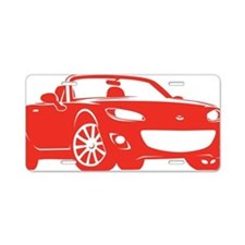 NC2 red Aluminum License Plate