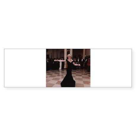 Princess Diana Dancing Bumper Sticker