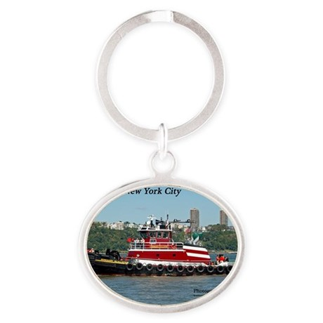 CalendarCover-2 Oval Keychain