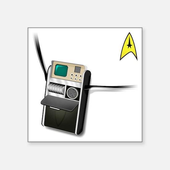 """tricorder_classic Square Sticker 3"""" x 3"""""""