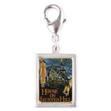 House on Haunted Hill Silver Portrait Charm
