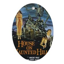 House on Haunted Hill Oval Ornament