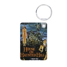 House on Haunted Hill Aluminum Photo Keychain