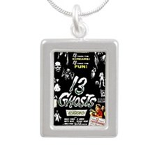 13 Ghosts Silver Portrait Necklace