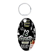 13 Ghosts Aluminum Oval Keychain