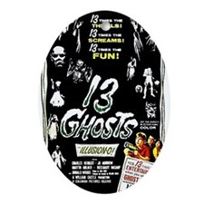 13 Ghosts Oval Ornament