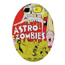 Astro Zombies Oval Ornament