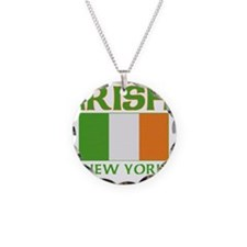 IRISH NEW YORK Necklace Circle Charm