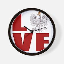 polish love Wall Clock