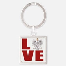 polish love Square Keychain