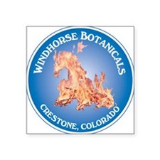 "Windhorse Botanicals 10 Cir Square Sticker 3"" x 3"""