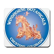 Windhorse Botanicals 10 Circle Label Mousepad