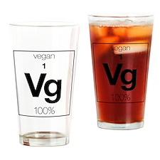VforVeganElementGraphic Drinking Glass
