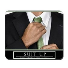 23x35_suit_up_new Mousepad