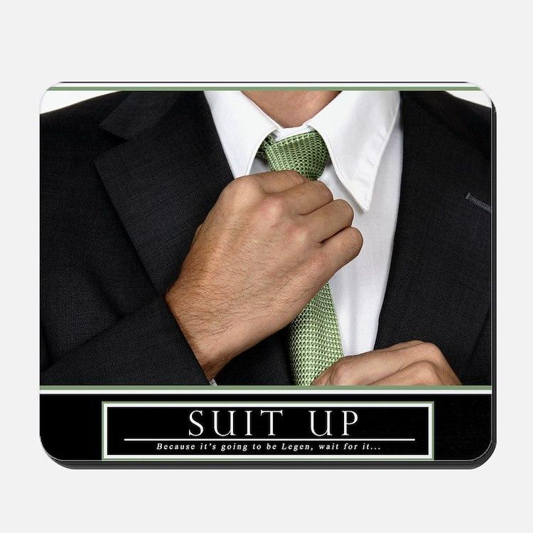 23x35_suit_up_new Mousepad