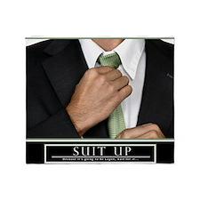 23x35_suit_up_new Throw Blanket