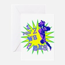 I H8 2 W8 2 SK8 Greeting Cards (Pk of 10)