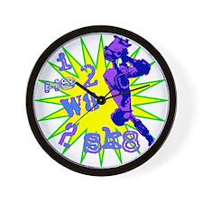 I H8 2 W8 2 SK8 Wall Clock