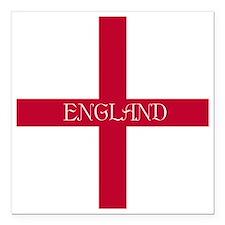 """KB English Flag - Englis Square Car Magnet 3"""" x 3"""""""