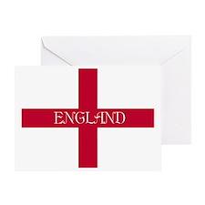 PC English Flag - English Anglican Greeting Card