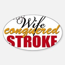 mywifeconqueredstroke Sticker (Oval)