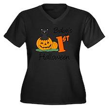 Babys First  Women's Plus Size Dark V-Neck T-Shirt
