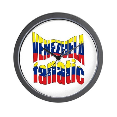 The Venezuela flag fanatic Wall Clock